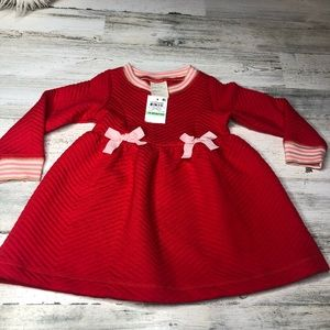 First Impressions Red Dress 18 months bow